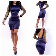 new women fashion black patchwork backless bodycon celebrity