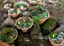 Mini Fairy Garden Ideas by A Miniature Fairy Garden Village Artsy Craftsy Pinterest