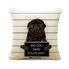 cushion cover bad dog 45x45 funny design chairs tables loversiq