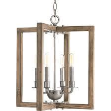 progress lighting turnbury 4 light gray galvanized chandelier