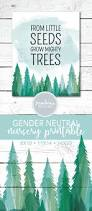 from little seeds grow mighty trees printable woodlands nursery