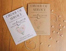 order of service wedding supplies ebay