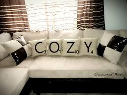 max studio home decorative pillow set of 4 scrabble letter decorative pillow by personalizedworld