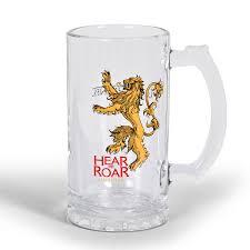 amazon com game of thrones merchandise glass beer stein ale