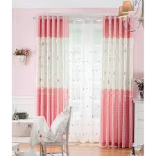 Pink Gingham Curtains Pink Gingham Floral Print Polyester Beautiful Curtains