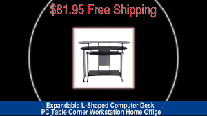 Home Office L Shaped Computer Desk by Expandable L Shaped Computer Desk Pc Table Corner Workstation Home