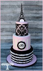 wedding cake inspiration pink u0026 black paris theme u2022 diy weddings