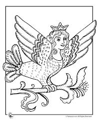 mythical winged princess coloring woo jr kids activities