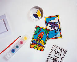 glass painting kit house crafts