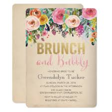 bridal shower invitations brunch brunch and bubbly bridal shower invitations announcements zazzle