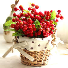 fruits flowers 21 types artificial silk roses fruits flowers mini rattan