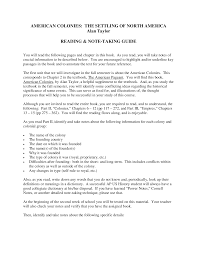 american colonies the settling of north america lecture note