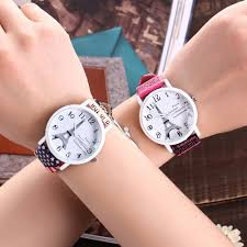 American Flag Watches Vansvar Brand Fashion Usa Flag And Eiffel Tower Watch Casual Women