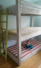 easy built in triple bunk bed measurement and plans kids bedroom
