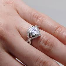 pear shaped ring jewelry rings sterling silver micro pave pear center cz
