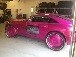 chrysler crossfire with tv door mod shitty car mods