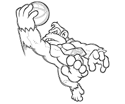 donkey kong coloring pages getcoloringpages