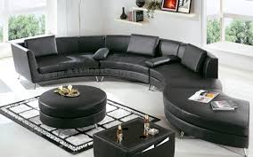 Leather Sofas Aberdeen Furniture S Shaped Black Sofa And Black Cushions With Black