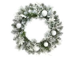 home 24 artificial snowy flocked wreath reviews