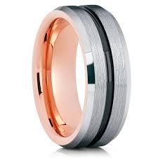 wedding ban gold tungsten wedding band black tungsten silver tungsten