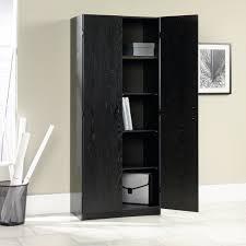 sauder ebony ash storage cabinet 410814
