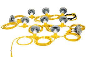 Industrial String Lights by 250 Watt Temporary Construction String Light 10 Led Par 38 Work