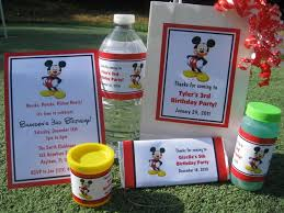 mickey mouse birthday pdf cd w invitation favor water candy gum