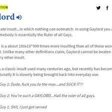 Definition Of Meme Urban Dictionary - urban dictionary s definition of gaylord by berzerker2610