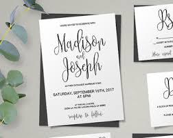 wedding invite wedding invitation kits etsy