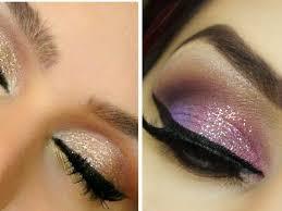 pink or brown eye shadow prom makeup royal blue