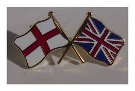 Flag Badges Embroidered Cross Of St George And Union Jack Crossed Flag Pin Badge 3 99