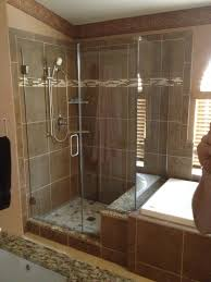 Travertine Tile Bathroom by Bathroom Awesome Travertine Tile With Dreamline Shower Doors And