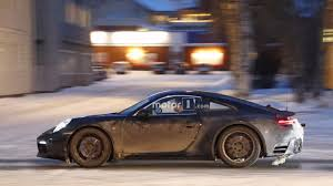 porsche 911 snow watch the 2019 porsche 911 prototype play in the snow