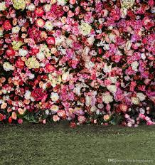 wedding backdrop grass ful roses blossom wall backdrop wedding peony flowers
