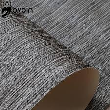 bamboo grass cloth wallpaper roll nature plain solid color taupe