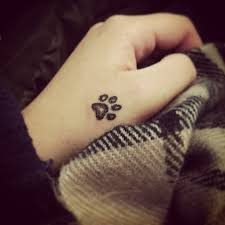 latest dog paw print tattoos ideas