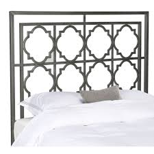 safavieh silva antique iron metal geometric headboard queen