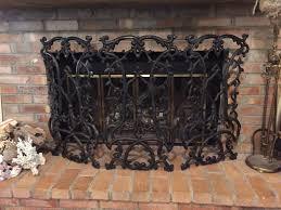 creative iron fireplace cover design decorating wonderful on iron