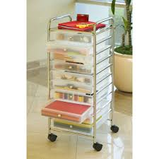 Seville Classics Office Desk Organizer by Seville Classics Large 10 Drawer Organizer Cart Frosted White