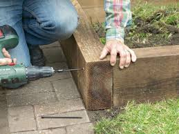 build a timber raised bed hgtv