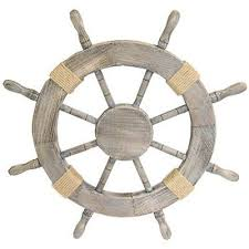 Home Decor On Sale 36 Wooden Ship Steering Wheel Pirate Decor Wood Brass Fishing Wall
