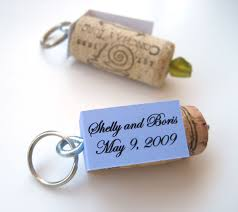 wedding favor keychains pretty cool wine cork keychain used as a wedding favor here it d