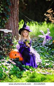 Girls Pumpkin Halloween Costume Happy Halloween Costume Jack Stock Photo 214462621