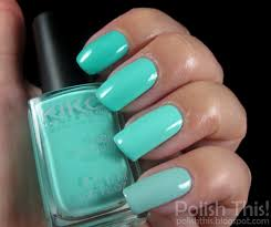 nail polish battle barry m greenberry vs kiko mint milk 389 vs