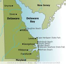 map of maryland delaware and new jersey delaware beaches map delaware map