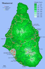 Map Of Eastern Caribbean Islands by Soufriere Hills Volcano