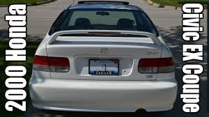 2000 honda civic ex coupe taffeta white super clean 16th youtube