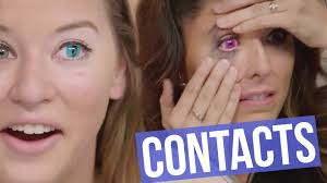 temporary hair color for halloween 5 creepy colored contact lenses for halloween beauty break youtube