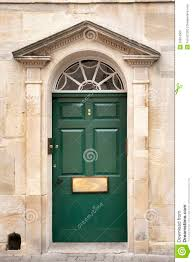 door entrance to town house old antique architectural stock photo