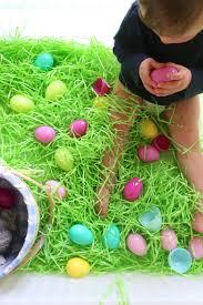 easter egg hunt sensory bin mama papa bubba